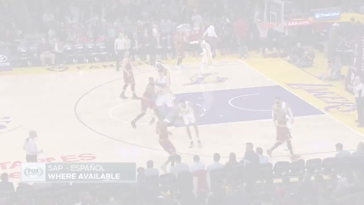 Buckets. Watch the thrilling Kyrie/D-Lo PG Duel! #LakeShow #DefendtheLand https://t.co/3x8Nabr9L8