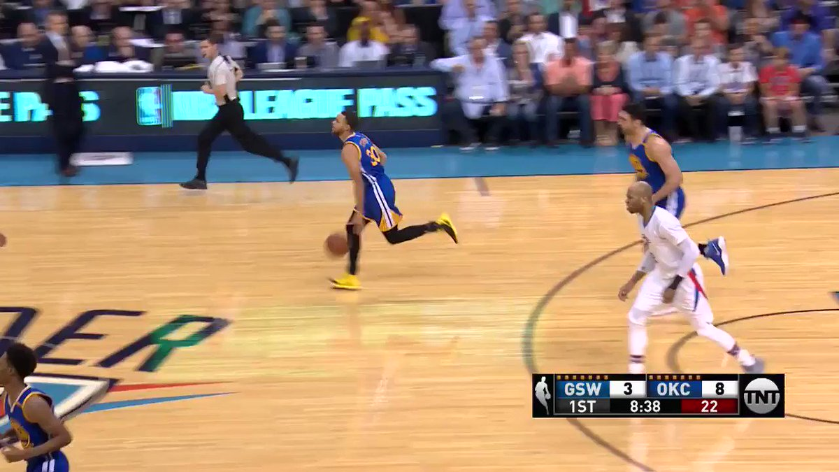 Steph's got it going early on @NBAonTNT! #DubNation https://t.co/dY1YGID3ip
