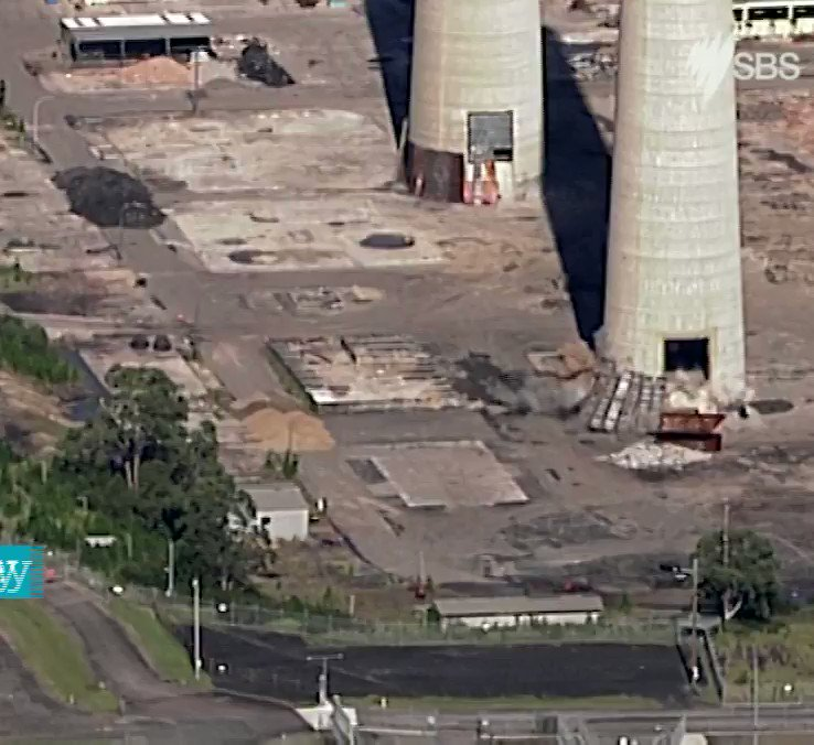 Chimney stack demolition: About 6,500 tonnes of concrete come crashing to the ground
