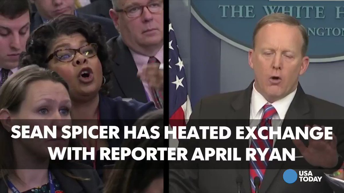 Sean Spicer tells reporter April Ryan 'Stop shaking your head'