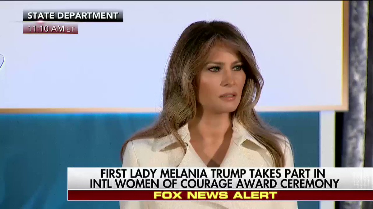 """.@FLOTUS """"Together, we must declare that the era of allowing the brutality against women and children is over"""""""