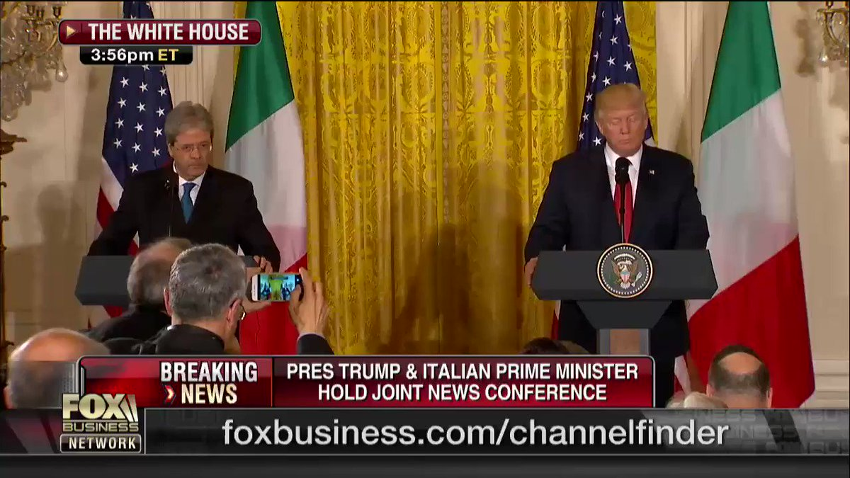 WATCH: @POTUS's full opening remarks at joint news confernece iwth Italian PM. https://t.co/7izwcv1vg6 https://t.co/YF0W9T0MlH