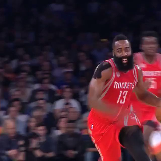 One of the masters of the #Eurostep, @JHarden13!  @HoustonRockets/@OKCThunder Game 3: 9:30pm/et @ESPNNBA https://t.co/vVOZ5C47Rq