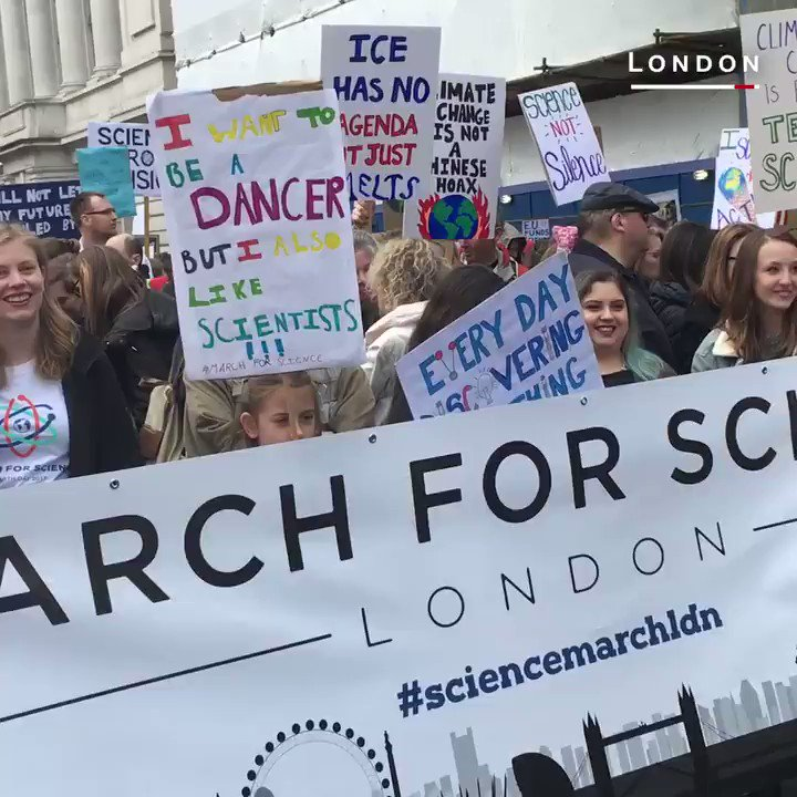 People took to the streets to march for science -- around the world