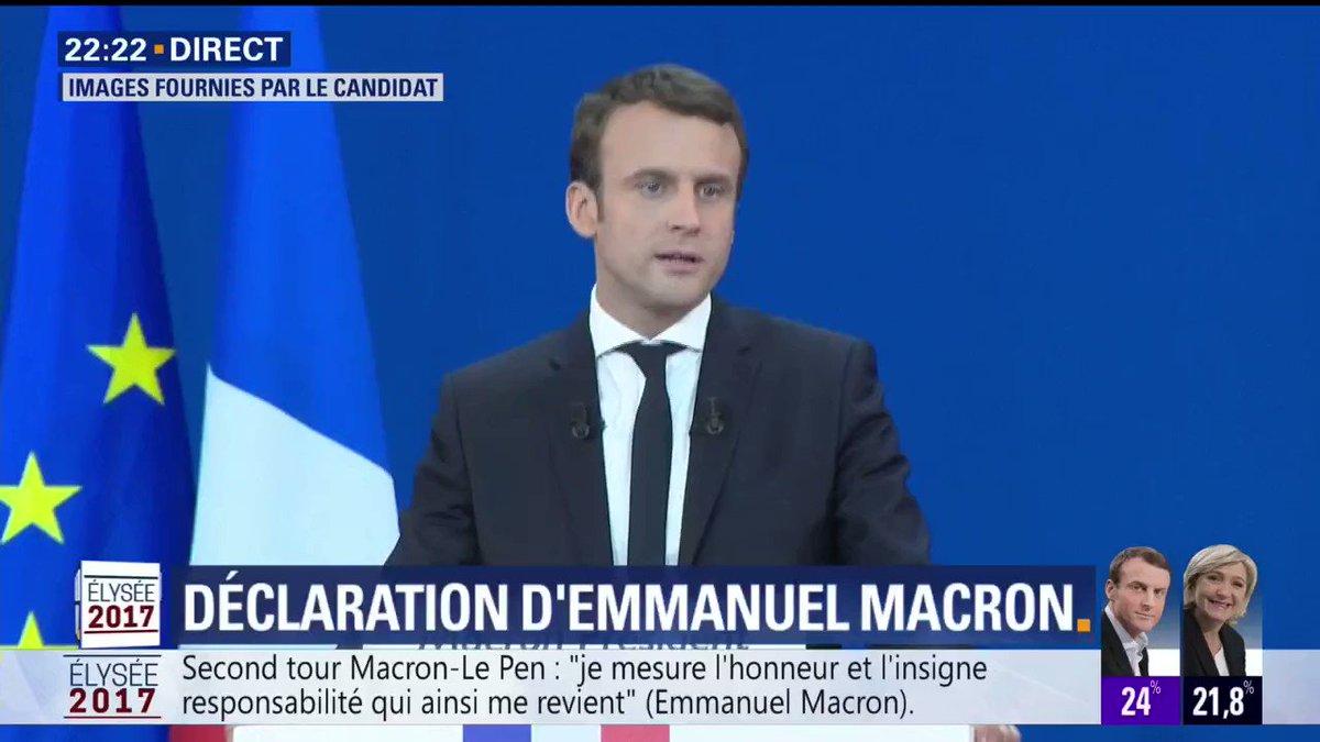 Emmanuel #Macron: 'Je me dois d'aller au-delà et de rassembler tous les Français'