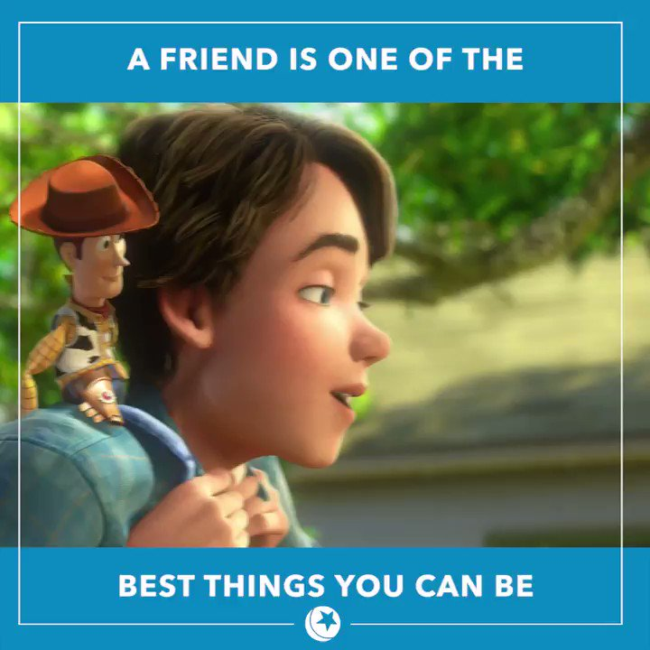 You've got a friend in these @DisneyPixar characters. 💙