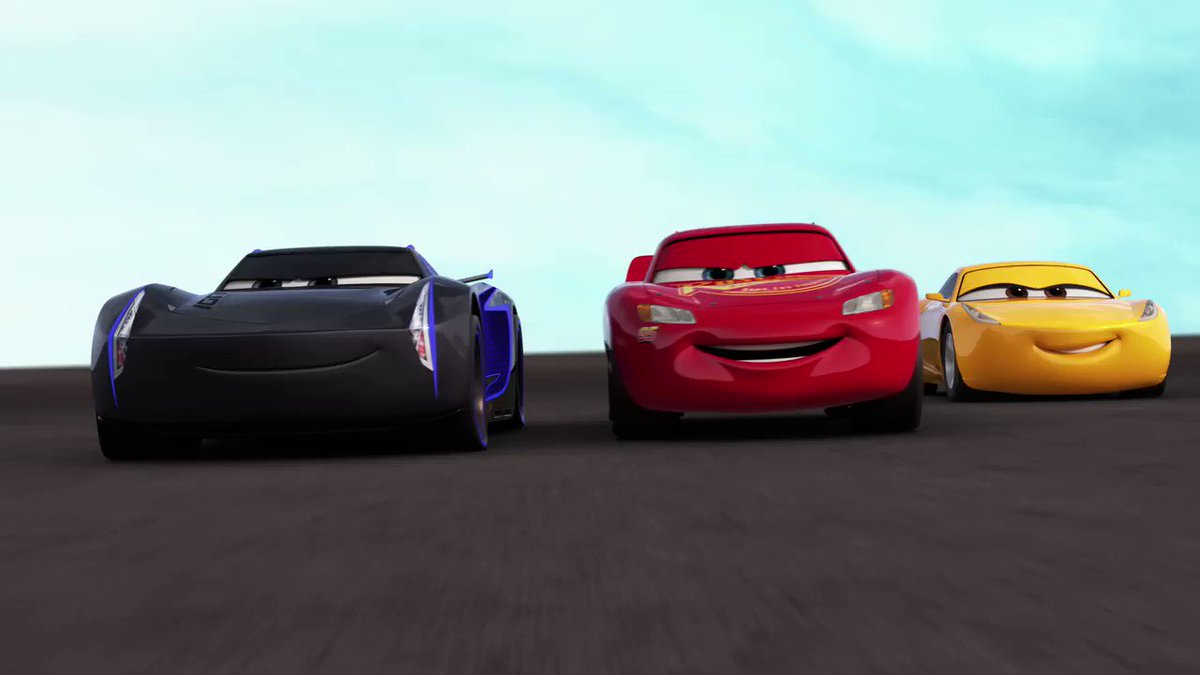 Watch out the new trailer for #Cars3 debuts tomorrow. ⚡️