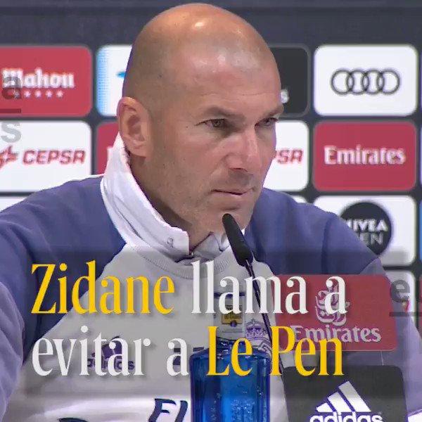 """El entrenador del @realmadrid, contra Marine Le Pen """"Hay que evitar al Frente Nacional""""."""