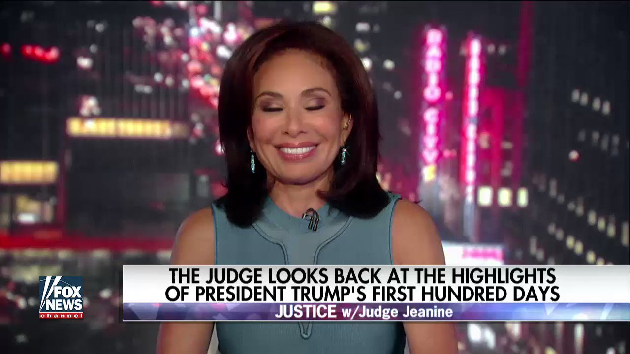 A look back at @POTUS' #First100Days with @JudgeJeanine. https://t.co/hE6TPLjzpZ