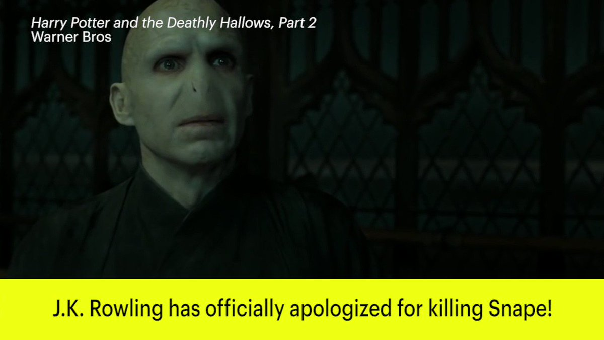 HarryPotter author J.K. Rowling apologizes for killing Snape: