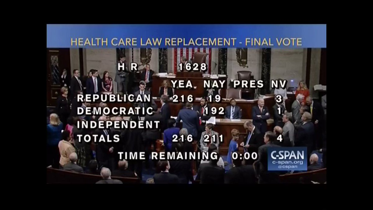 Democrats taunt GOP with 'Goodbye' chant after Trumpcare vote https://t.co/2utduNTI58 https://t.co/68KE8E41Fb