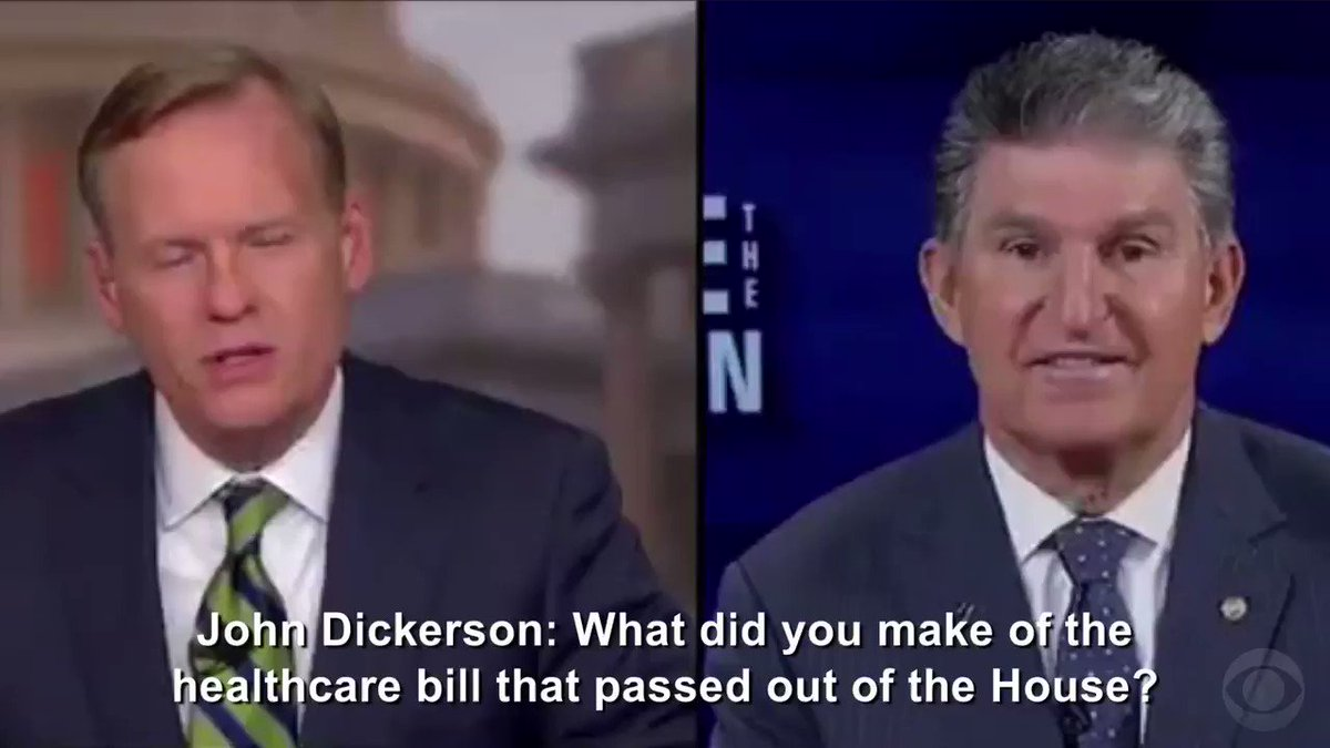 ".@Sen_JoeManchin on healthcare passing the House: ""I couldn't believe it"""