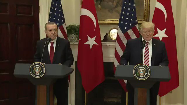 It was a great honor to welcome the President of Turkey, Recep Tayyip Erdoğan, to the @WhiteHouse today! https://t.co/4BWjOCgnNv