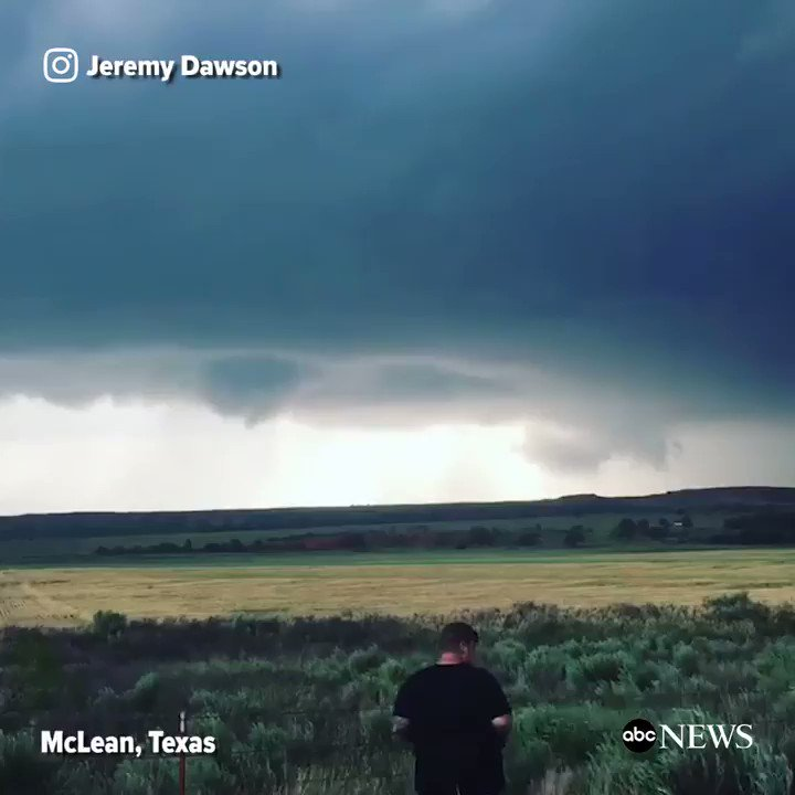 WATCH: Timelapse footage shows a funnel cloud forming into a tornado in McLean, Texas: https://t.co/jGJ0mfxdGD https://t.co/8Fe4hDy8j6