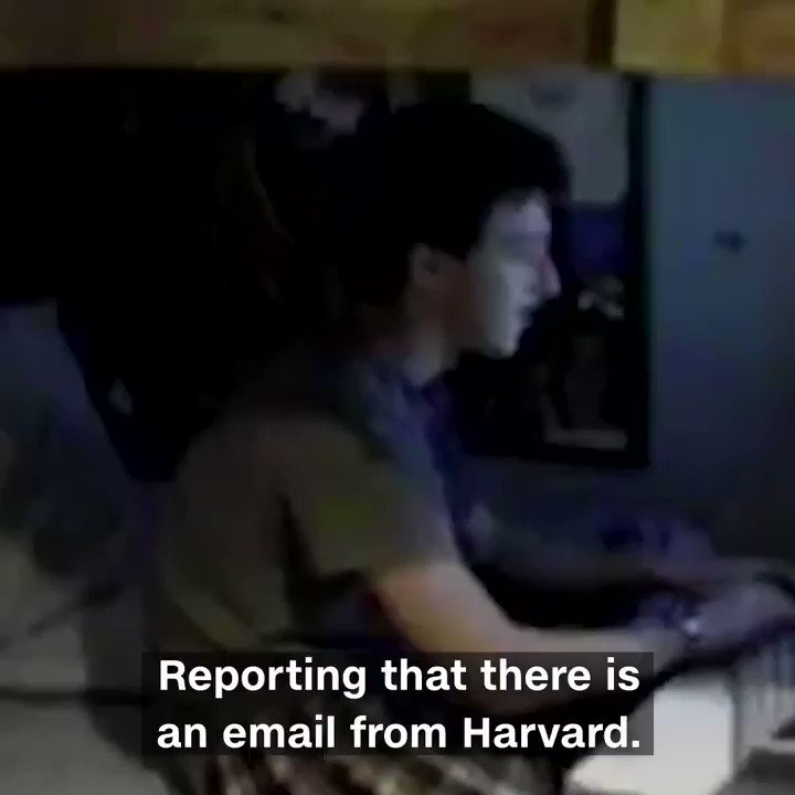 This is the moment a teenage Mark Zuckerberg found out that he'd got into Harvard University