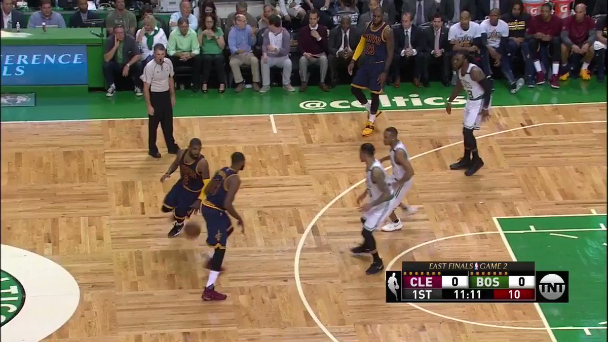 Kyrie gets the first bucket of Game 2 on @NBAonTNT!  #DEWxNBA https://t.co/tpEwFu47sY