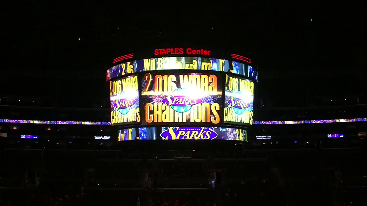 The @LA_Sparks collect their 2016 championship rings!  #WatchMeWork https://t.co/4d0YsFBDh2