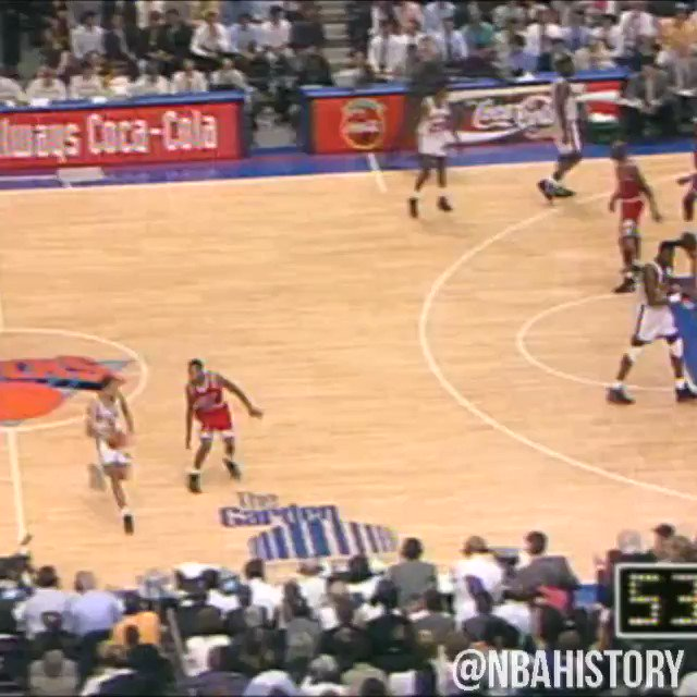 On this date in 1993, @StarksTheDunk drove baseline for the @NYKnicks in the ECF for a memorable SLAM! #NBATBT