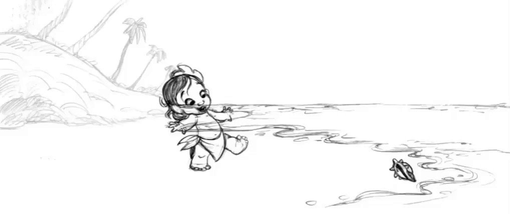 Wave hello to this early #Moana pencil animation test from @DisneyAnimation's Eric Goldberg. 🌊🌺🐚 #TBT