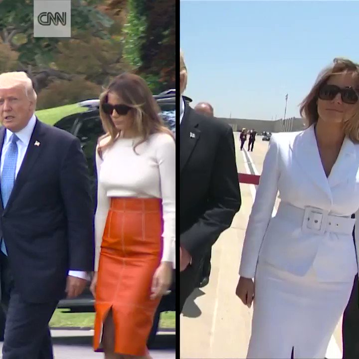 Melania Trump's outfits in the Middle East caused a stir on social media