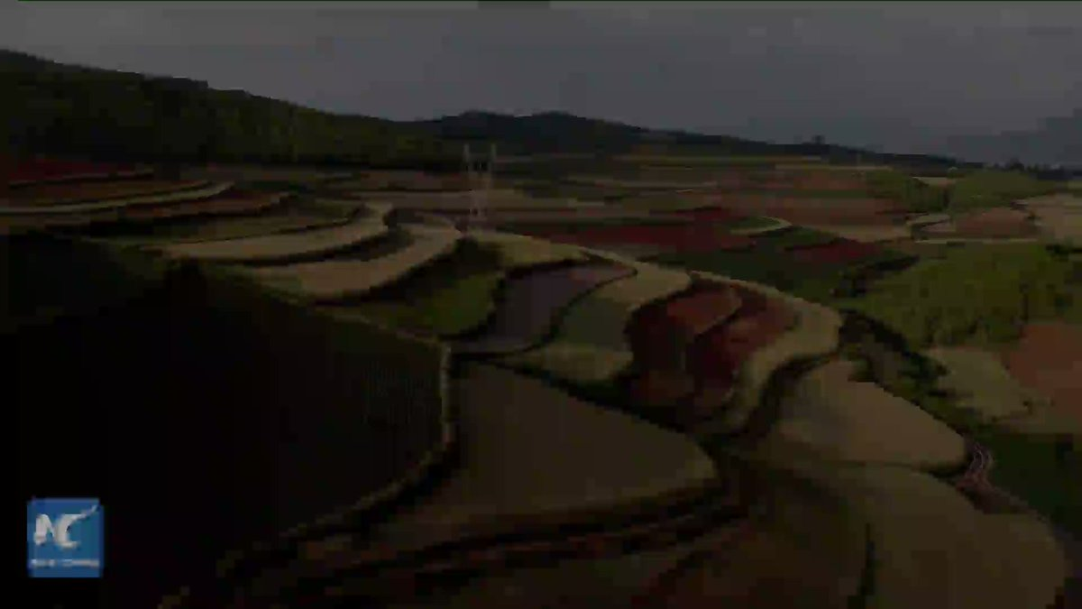 Rare natural beauty in Yunan! Click and see the stunning scenery of red earth terraces in Dongchuan of Kunming