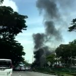 Car catches fire after collision at Clementi Road