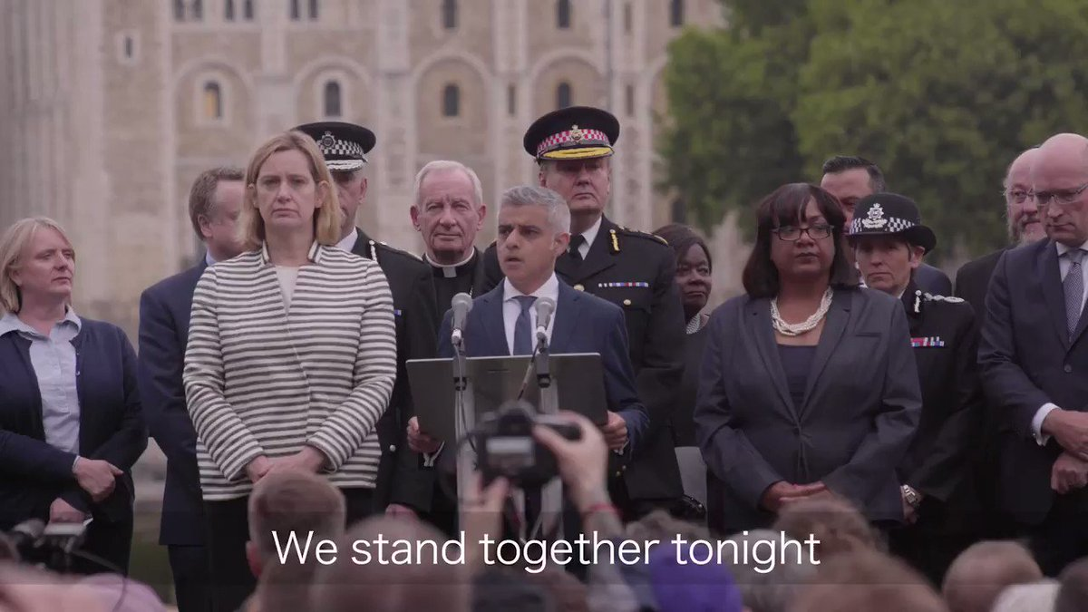 When Londoners face adversity we pull together. We stand up for our values and our way of life. We stand together. https://t.co/AJJMJjBIDp