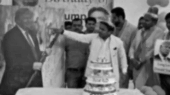 Timesofindia: Happy Birthday Donald Trump - Hindu Sena to cut cake for \saviour of humanity\   Read more: