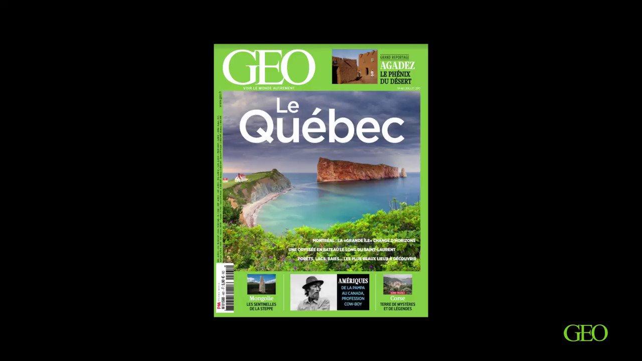 🌍 Les îles du Québec, la Mongolie, Agadez, la Corse... Mesdames, Mesdemoiselles, Messieurs : en kiosque actuellement, le nouveau GEO ! https://t.co/byPTxa6hzL