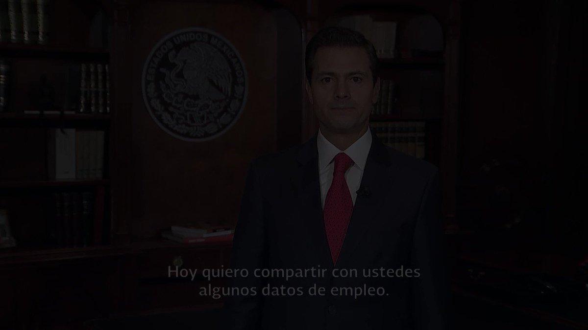 Una vez más, buenas noticias sobre la creación de empleos en México: https://t.co/7eLmesTIVA