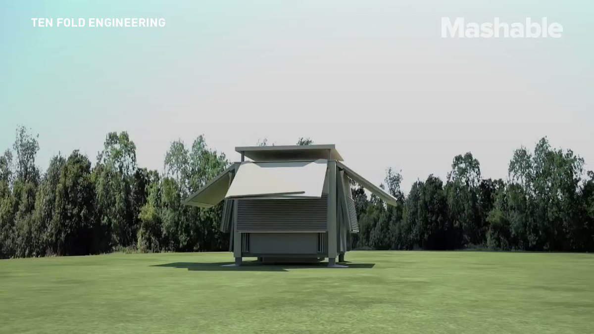 Would you live in this foldable house? �� https://t.co/qmxOoQZP9K
