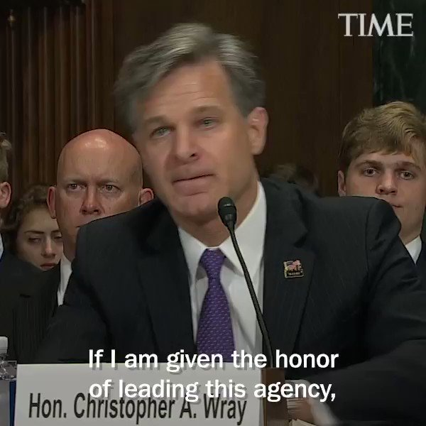 FBI Director nominee Christopher Wray fields questions at Senate hearing
