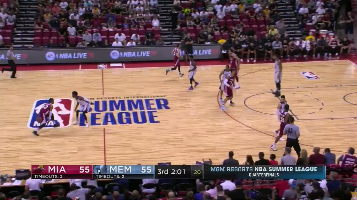 HEATing up.  Matt Williams has hit his sixth 3 of the game on ESPN 2! #NBASummer https://t.co/tL7YB67bJ1