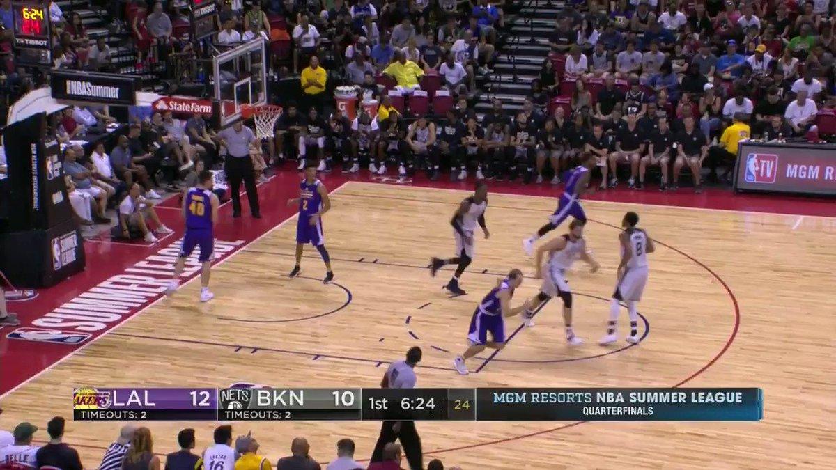 Full court dimes from the #2 overall @NBADraft pick, Lonzo Ball!  #NBASummer (��: ESPNU) https://t.co/unXL0Mubk8