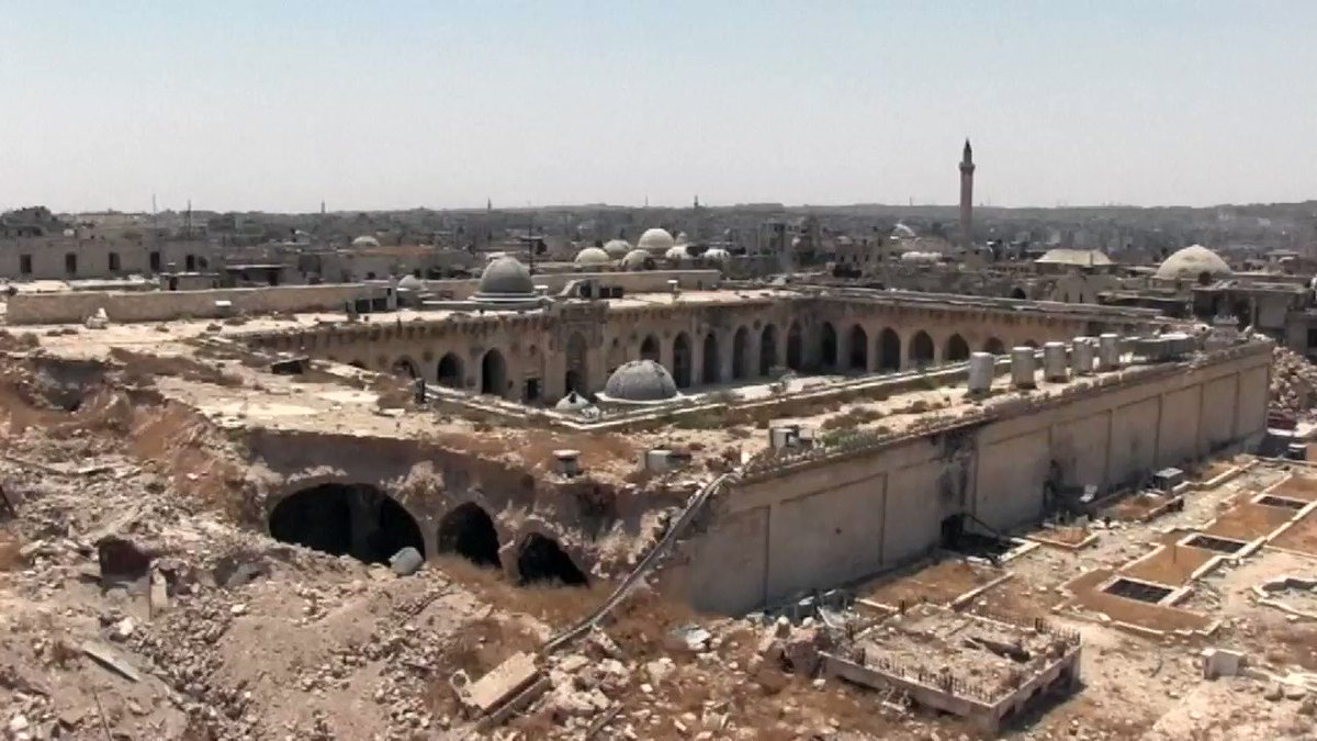 Syrians begin the post-war reconstruction of the Old City of Aleppo