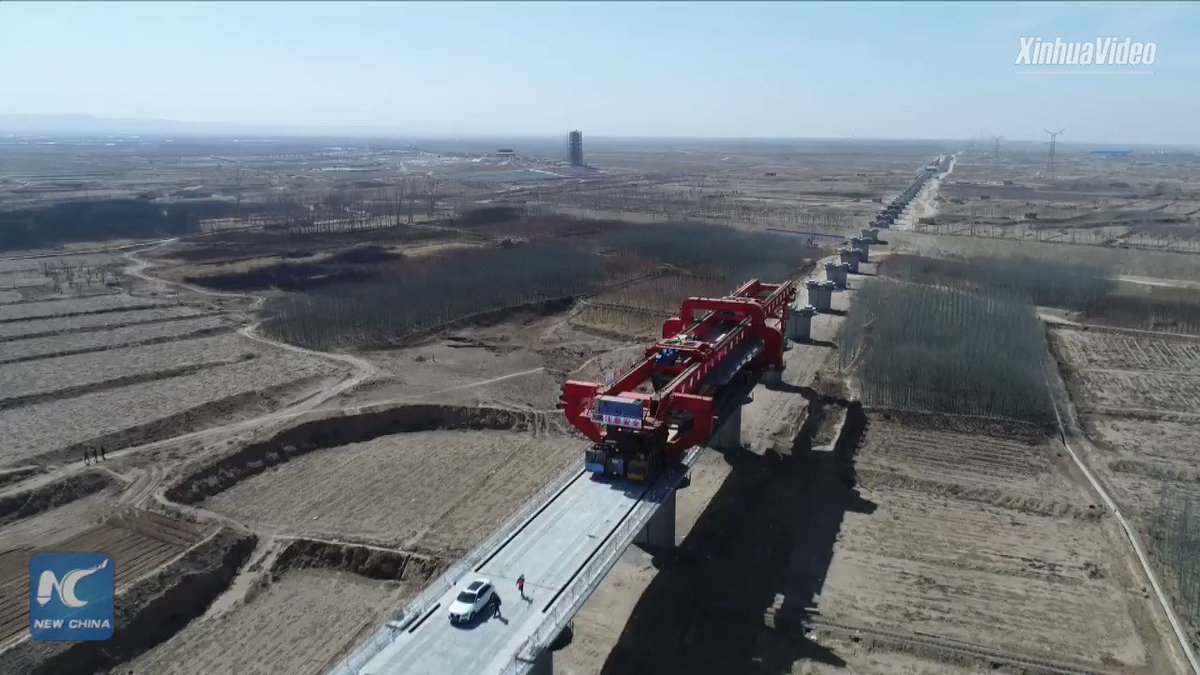 How are bridges built for China's high-speed rail lines? Check out this video #HighSpeedRail