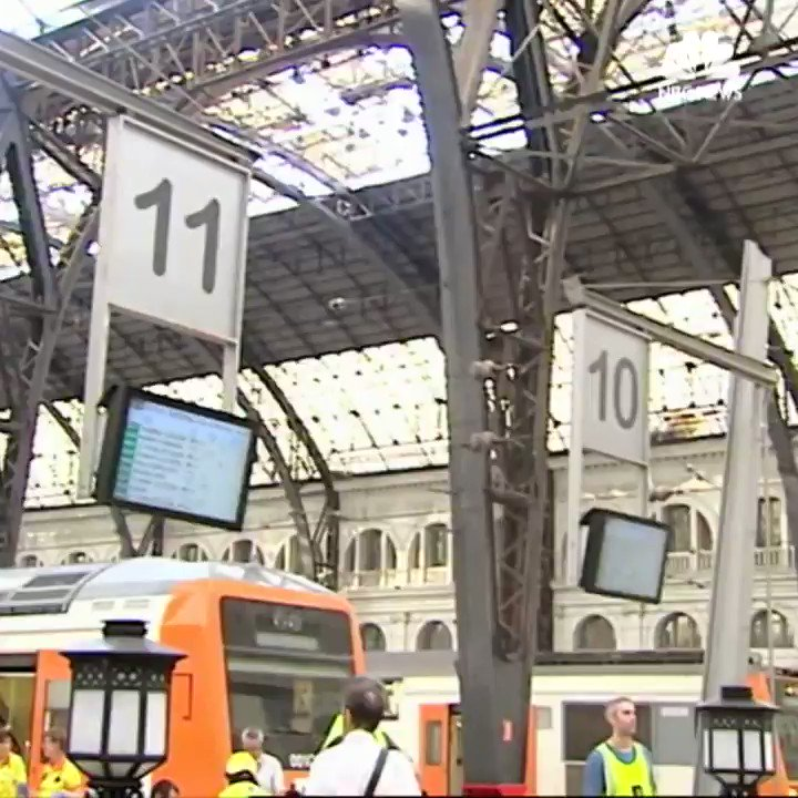 Over 50 people were injured this morning- one seriously- in a train crash at a station in Barcelona, Spain