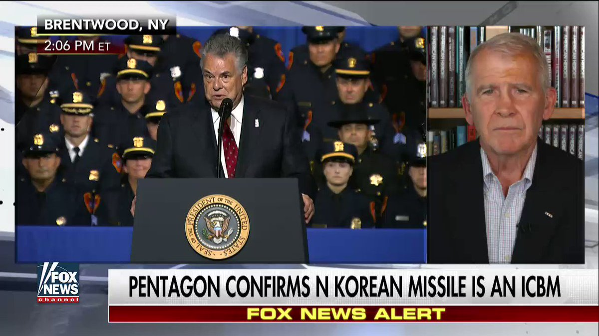".@OliverNorthFNC ""We're paying the price for 8 years of Obama's unilateral disarmament policy."" #NorthKorea"
