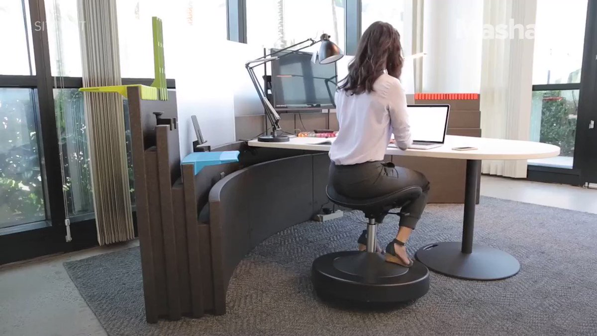 No need to hit the gym after work if you've got this desk chair https://t.co/Bug8s3W0Go