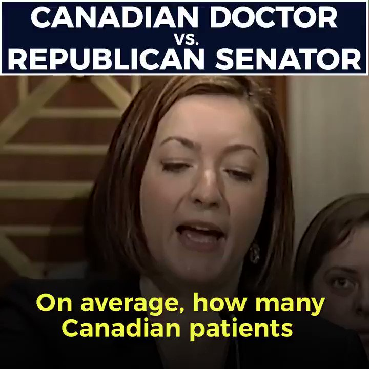 Here's what happened when a Republican senator challenged a Canadian doctor on their single-payer health care system. https://t.co/Weaz6vGbmB