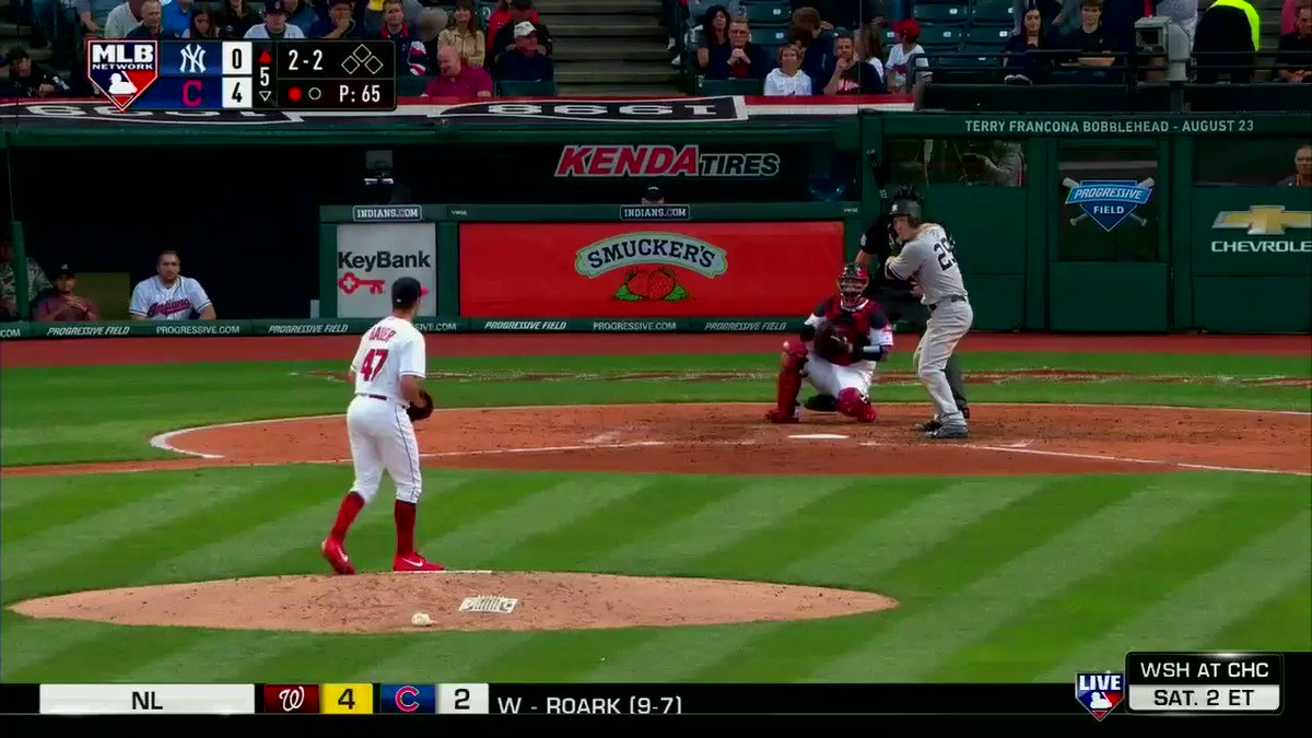 .@FlavaFraz21 puts the @Yankees on the board. #MLBNShowcase https://t.co/trVYzz8yKj
