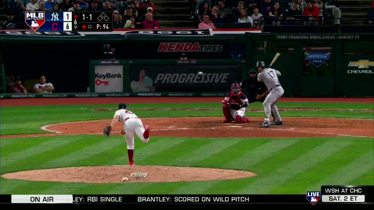 'He did it again!'  ������ @Urshela10 @Indians #MLBNShowcase https://t.co/5VCTZ4EZQ1
