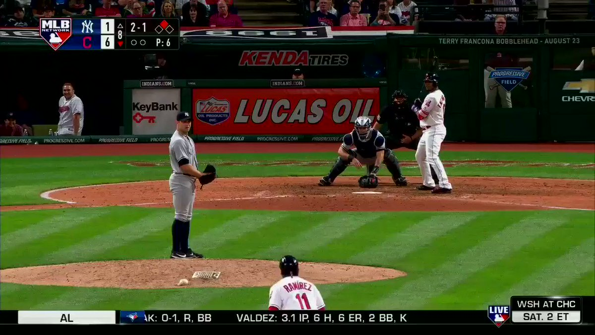 An RBI double for @Encadwin gives the @Indians a 7-1 lead. #MLBNShowcase https://t.co/XAFbE6NRwn