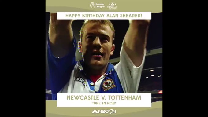 He\s the record goalscorer for AND the Happy Birthday to Alan Shearer!