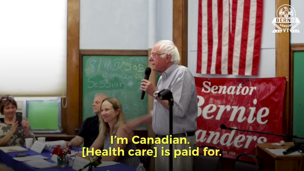 RT @SenSanders: What do you pay when you go to the doctor in Canada?