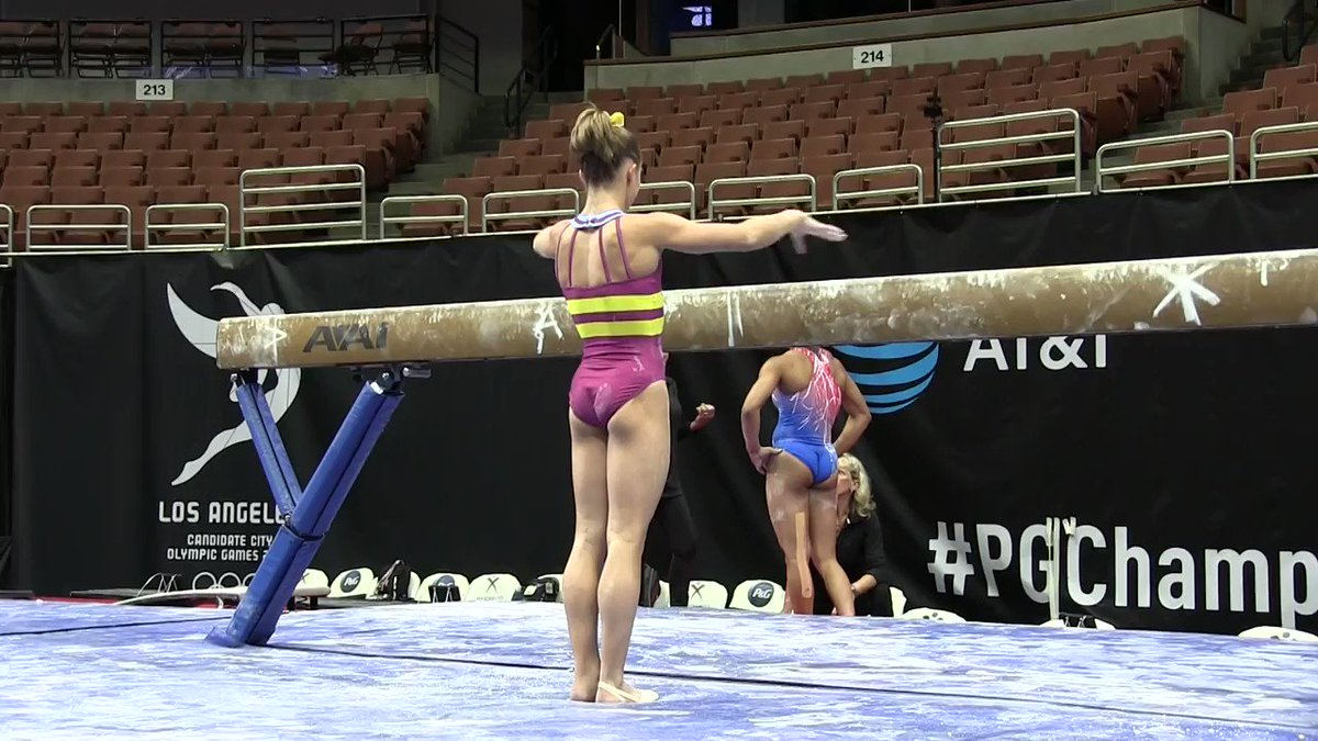 RT @USAGym: .@raganesmith2000 rocked her beam routine today during podium training at #PGChamps! https://t.co/YFe8vybe7y