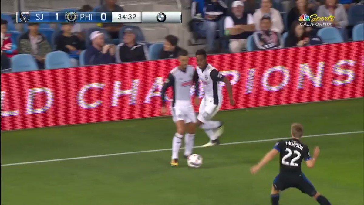 ¡@PhilaUnion insiste y encuentra el empate gracias @jackells95 quien marca su primer gol en la #MLS! #SJvPHI | 1-1 https://t.co/OSOEjcQK6N