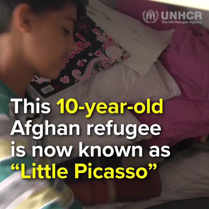 RT @Refugees: Meet Little Picasso https://t.co/bWWSzY5CYU