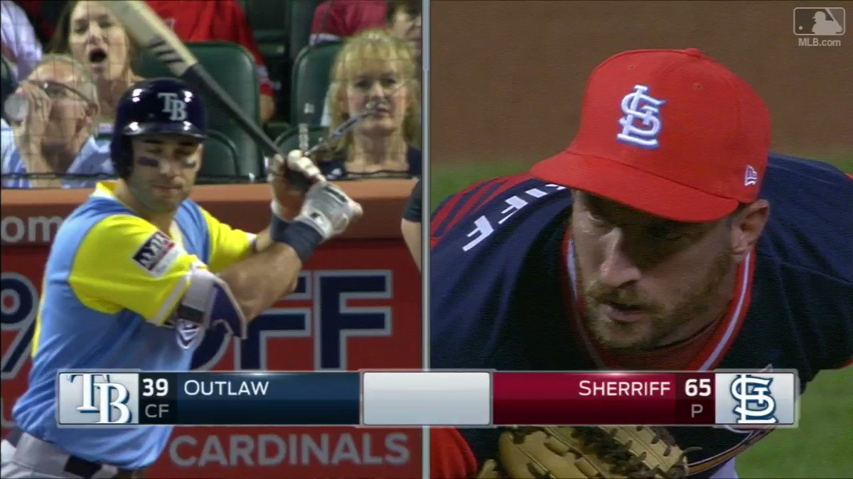 An age old classic: Sherriff against Outlaw. #PlayersWeekend https://t.co/cbR6rrehGK