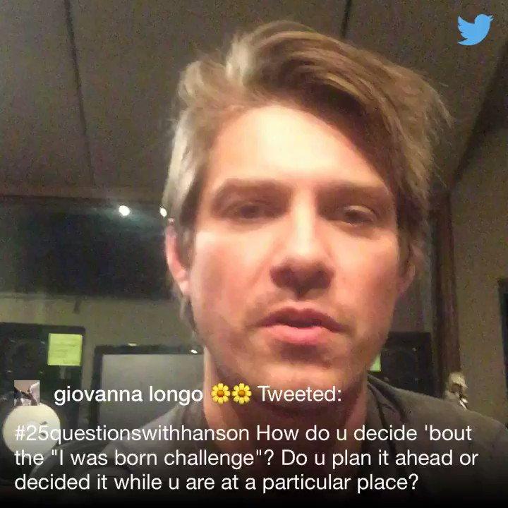 .@longogiovanna #25QuestionsWithHANSON https://t.co/qP7sf9cwqE
